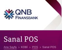 QNB Finasbank Sanal Pos